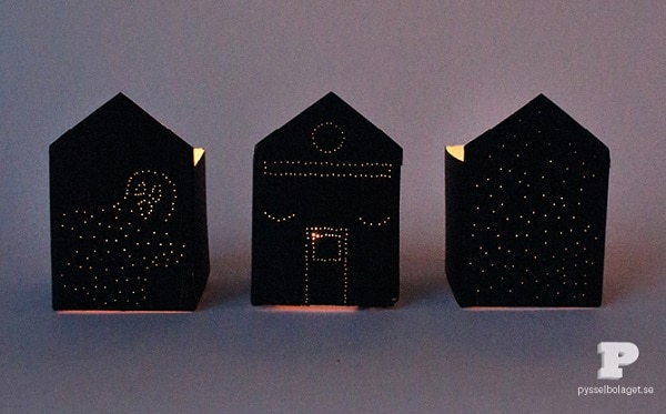 cardboard haunted houses