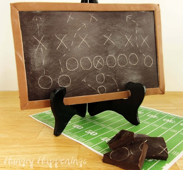 Edible Football Play Chalkboard