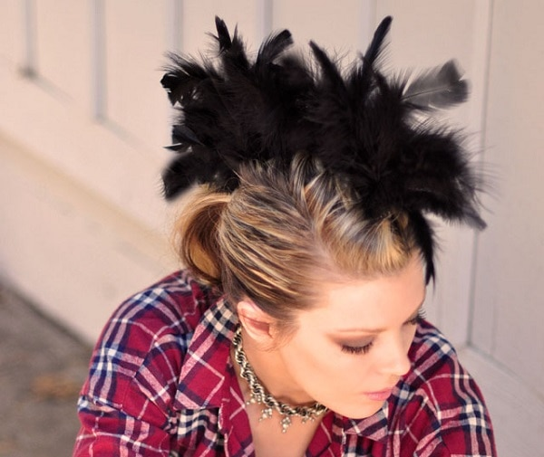 Feather Faux Hawk headpiece