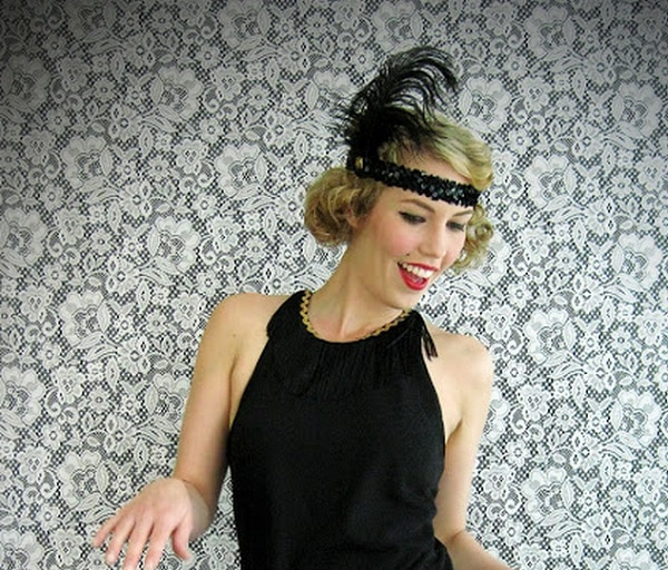 Flapper Feather Headband headpiece