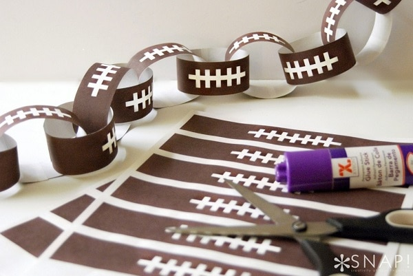 Football Paper Chain
