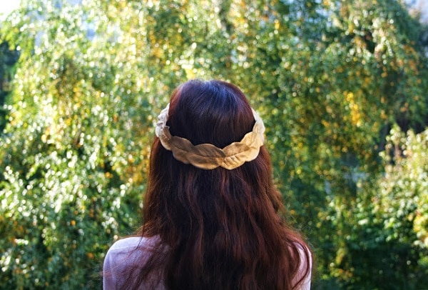 Gold Leaf Crown headpiece