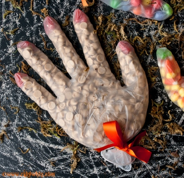 Halloween Spooky Glove Treat Bags