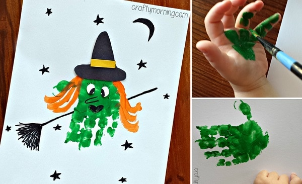 Hand Print Witch