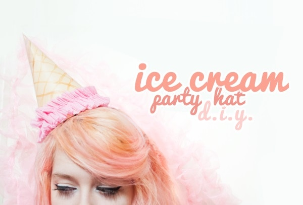 Ice Cream Cone Hat headpiece
