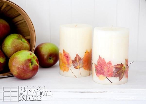 Leaf Candles