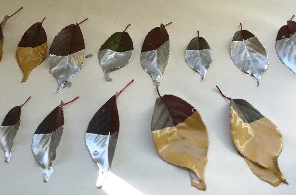 Metallic Dipped Leaves