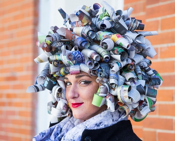 Newspaper Wig headpiece
