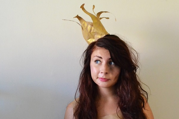 Paper Bag Crown headpiece