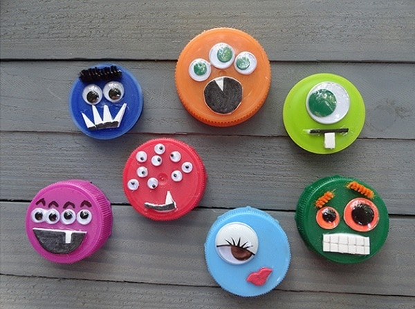Plastic Lid Monsters