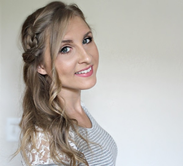 Romantic Side Swept Braid