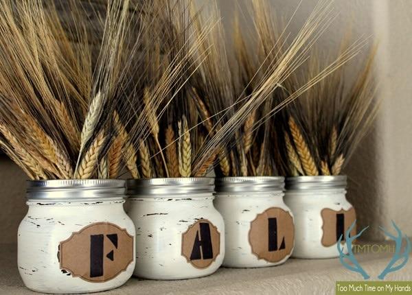 Rustic Wheat Centerpiece