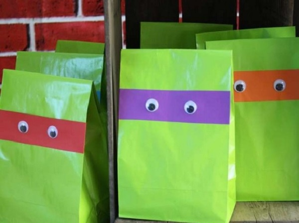Teenage Mutant Ninja Turtle Treat Bags
