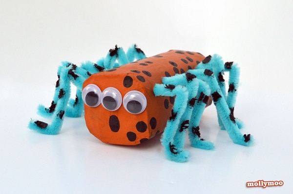 Toilet Paper Roll Spiders