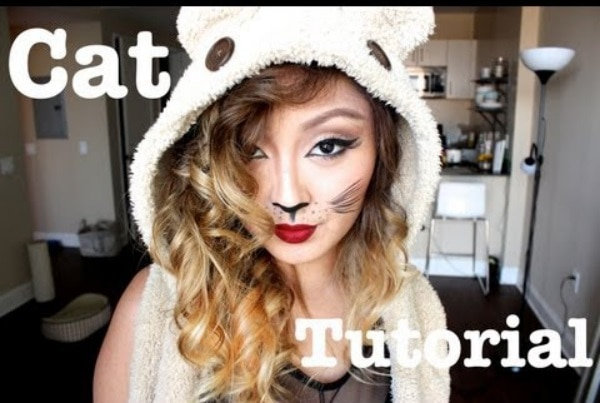 cat Halloween makeup