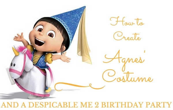 how to create agnes costume and despicable me 2 birthday party