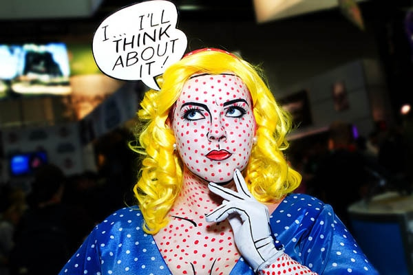 lichtenstein face paint costume