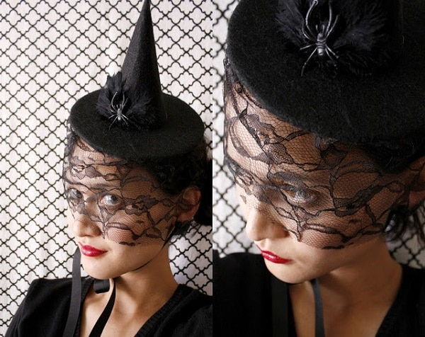 mini witch hat headpiece