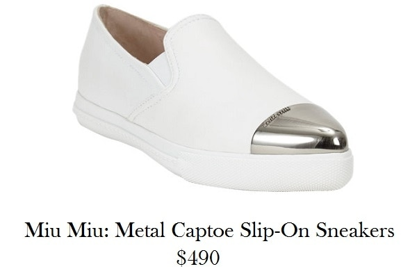 miu miu slip on sneakers