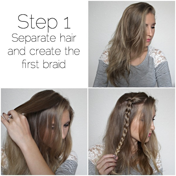 romantic side swept braid step-one