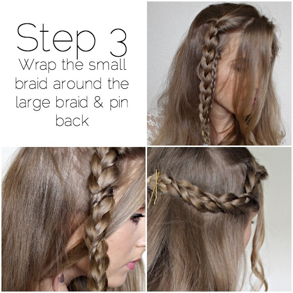 romantic side swept braid step-three
