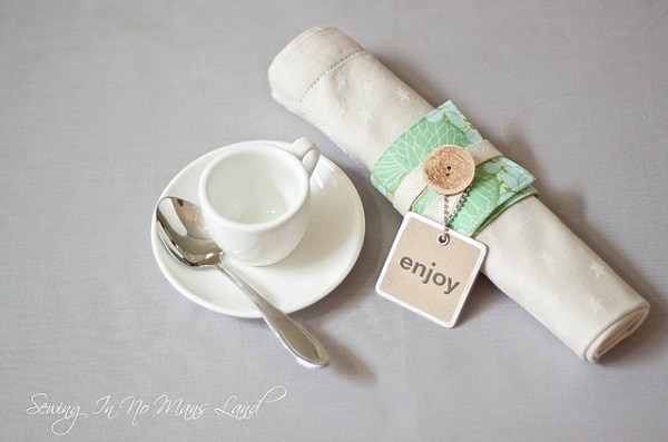 Button Napkin Wrap