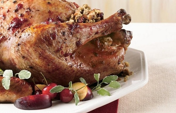 Cherry Glazed Turkey with Cherry Apple Stuffing