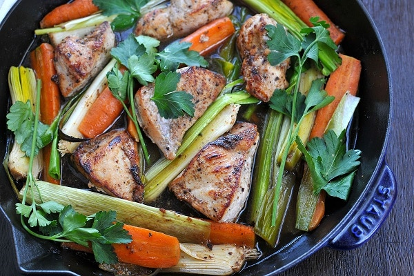 Chicken with Carrots & Leeks