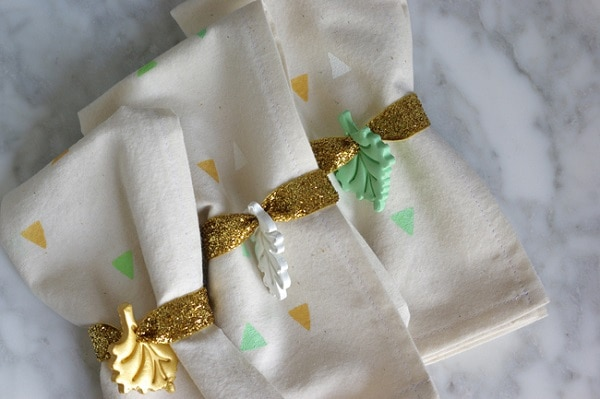 Clay Leaf Napkin Ties