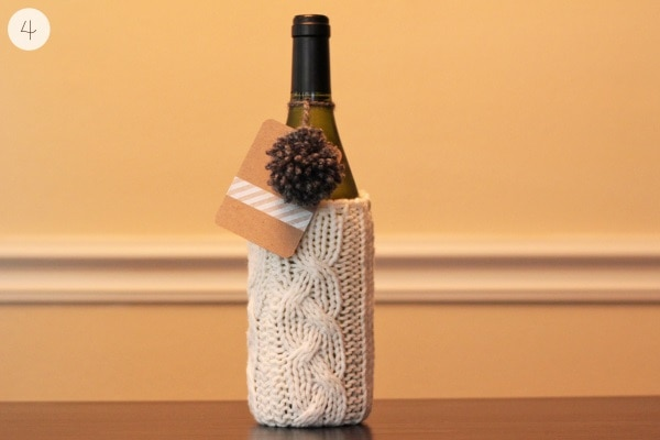 Cozy Winter Wine Wrap