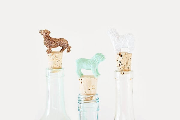 DIY Dog Wine Toppers