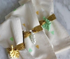 26 Festive DIY Napkin Rings for the Thanksgiving Table