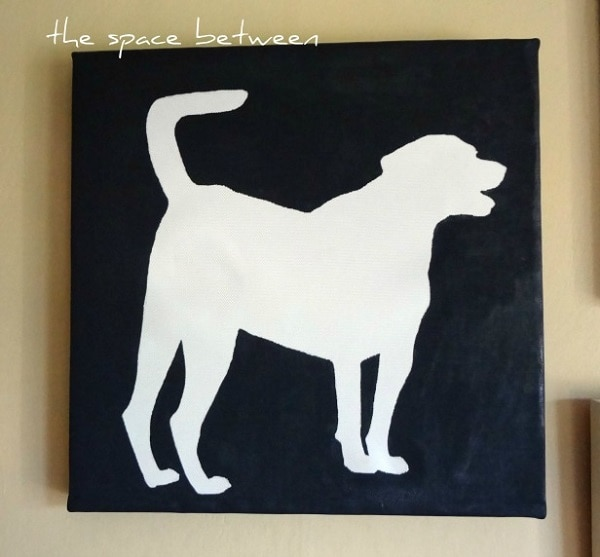 Dog Silhouette Canvas