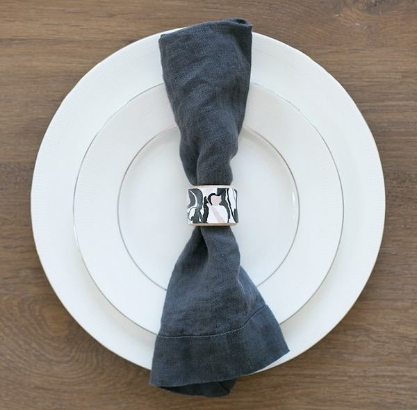 Faux Marble Napkin Rings