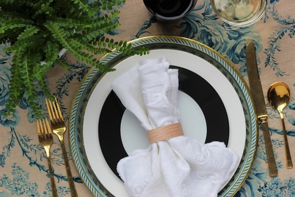 Faux Wood Napkin Rings