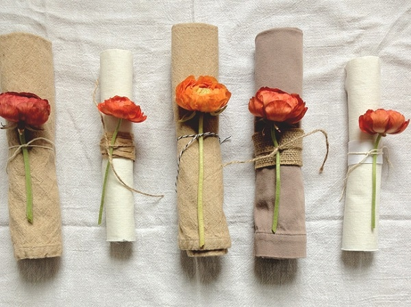 Flower Napkin Wraps