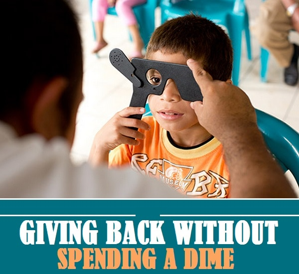 Giving Back Without Spending a Dime