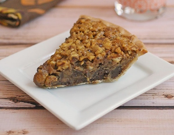 Gluten Free Bourbon Chocolate Pecan Pie