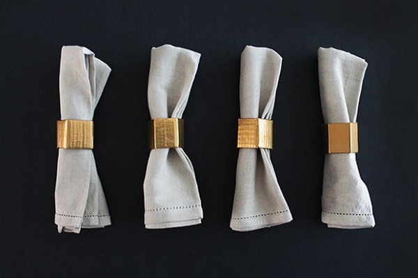 Gold Geo Napkin Rings