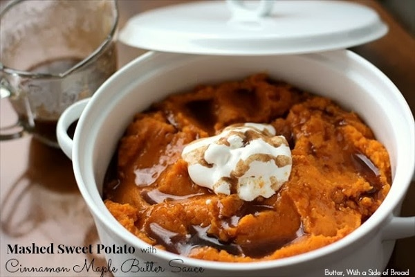 Mashed Sweet Potato with Cinnamon Maple Butter Sauce ...