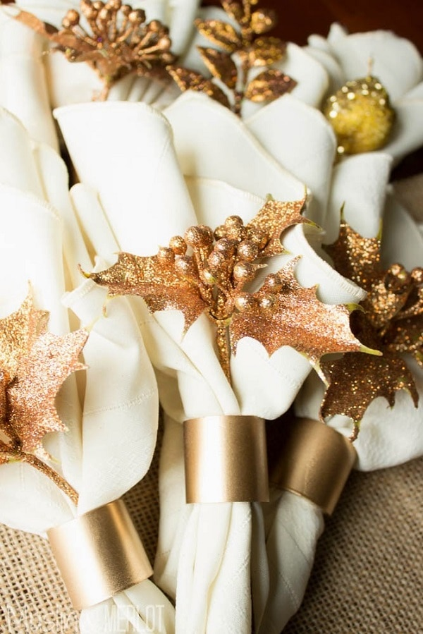 Metallic PVC Pipe Napkin Rings