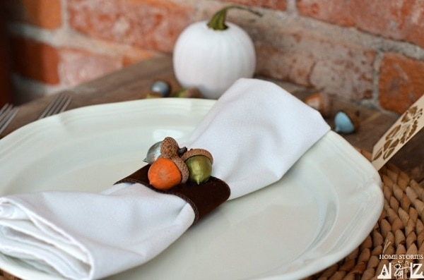 Painted Acorn Napkin Rings