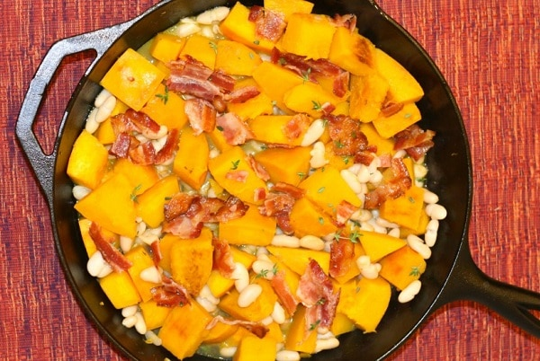 Pumpkin with White Beans and Bacon