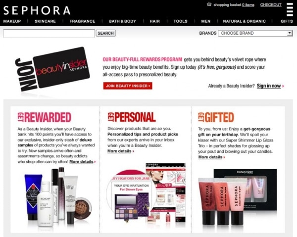 Sephora Beauty Insider Program