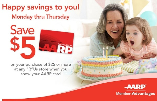 aarp toys r us senior savings