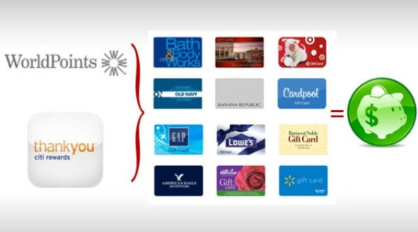credit card points for gift cards