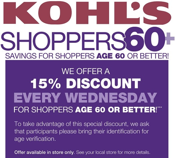 kohls senior discounts