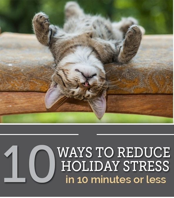 reduce holiday stress