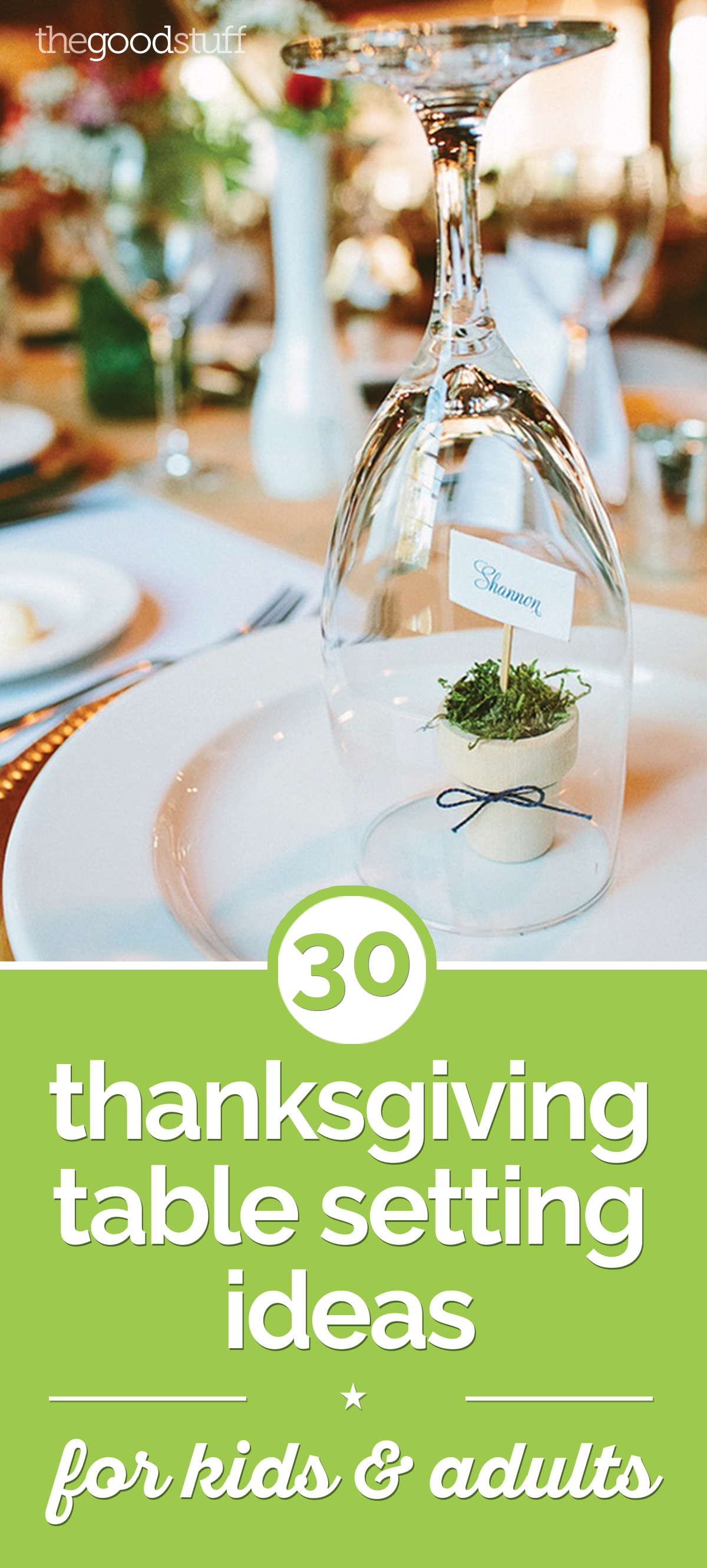 30 Thanksgiving Table Setting Ideas for Kids & Adults | thegoodstuff