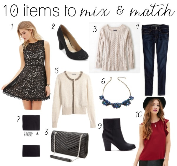 10 Mix & Match Items